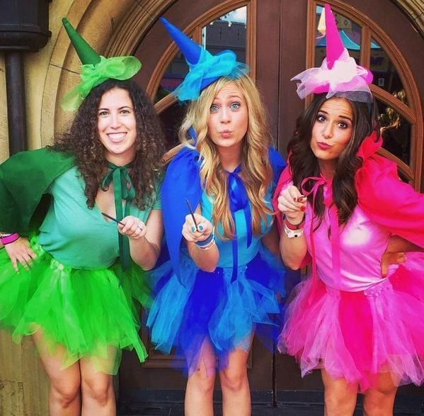 Flora, Fauna and Merryweather from Sleeping Beauty   33 Magical Disney Costumes Guaranteed To Win Halloween