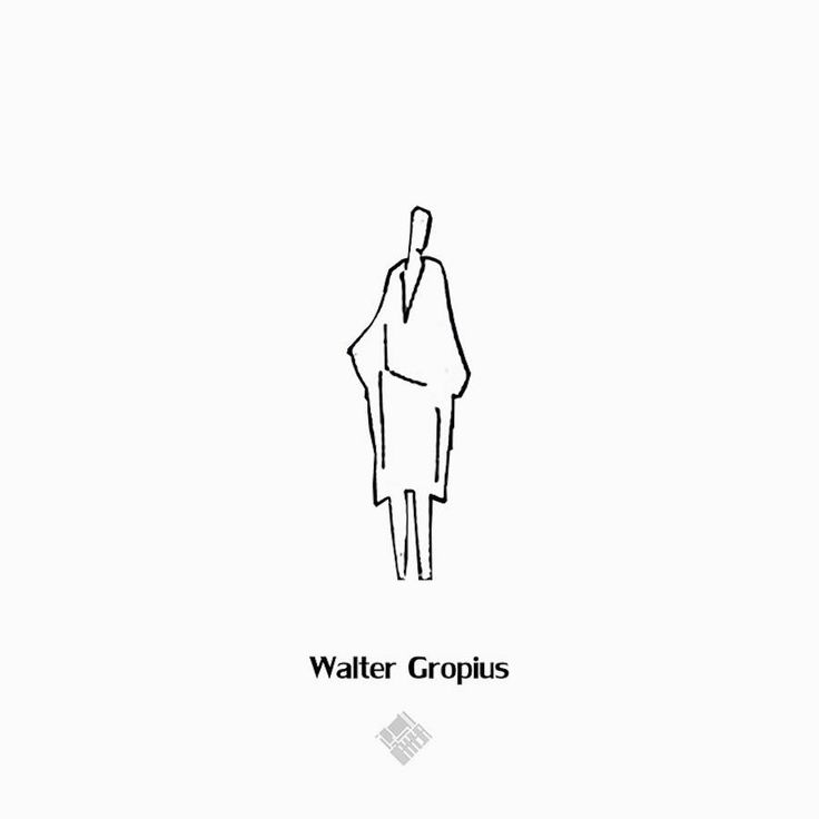 Drawings of Human Silhouettes by Famous Architects Showing their Style – Fubiz Media
