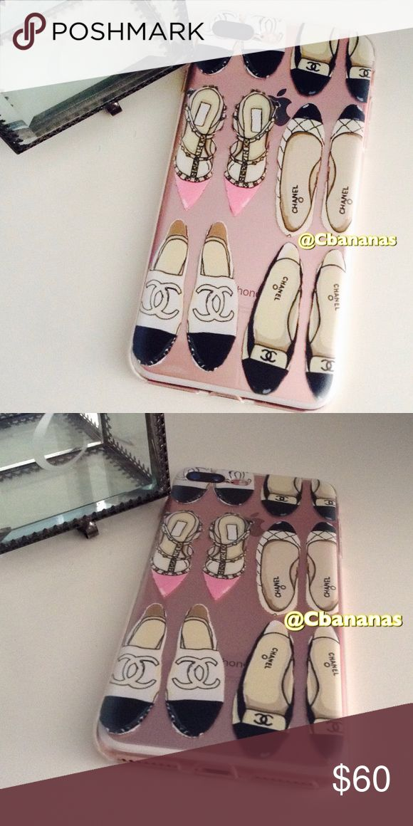 COMING SOON!  Shoe Lover IPhone 7 Soft Case Show your love for designer shoes with this silicone iPhone 7 PlusEnter case. Brand new. Espadrilles, Mules, heels, Ballet Flats, round toe, designer, logo, Rockstud pointy toe pump. Accessories Phone Cases