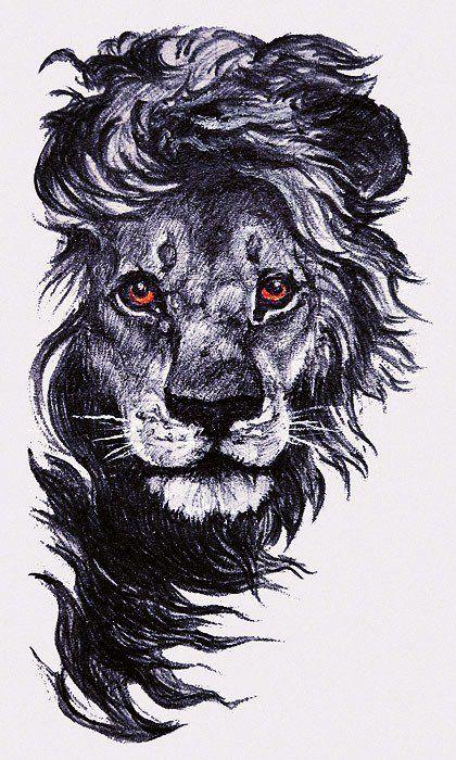 Вышивка лев а черном фоне
