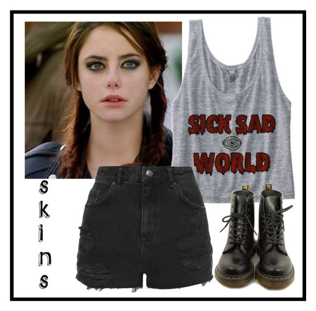 """""""effy stonem -skins"""" by alice-isabella on Polyvore featuring Dr. Martens and Topshop"""