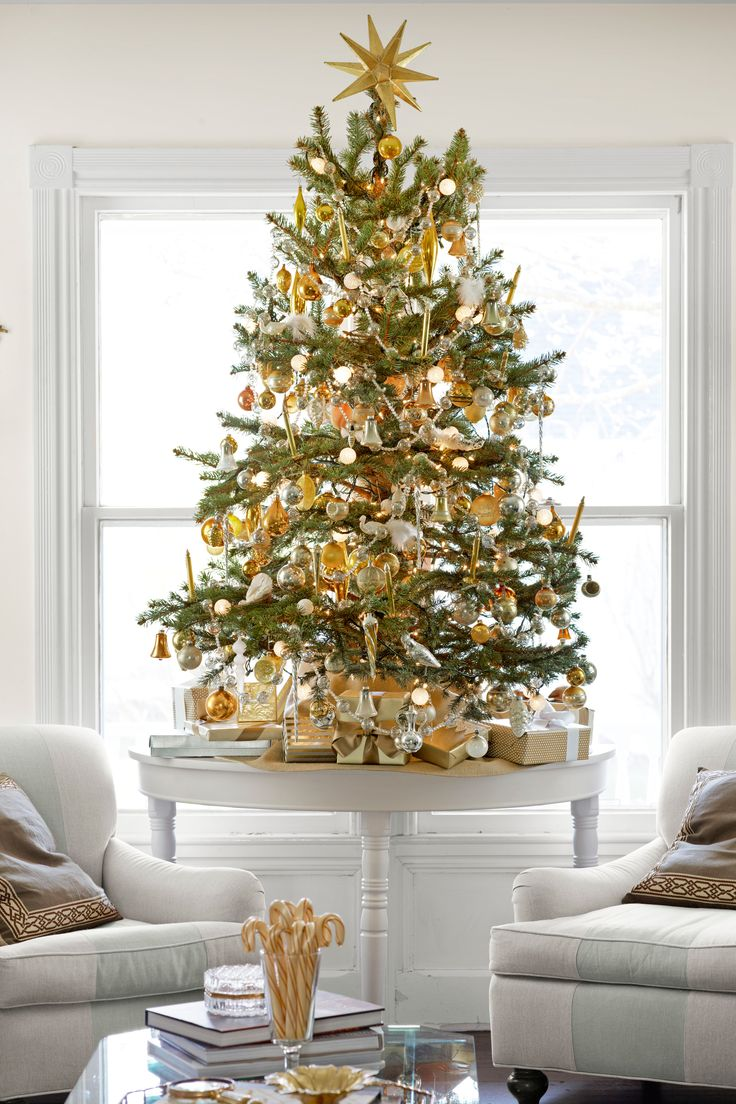 Mini Table Tree for the top of the cabinet in entry when the big tree gets to old and cumbersome