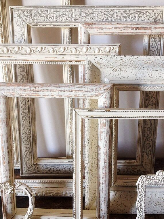 Rustic Chic Home Decor Walls Sealoveandsalt Pinterest Empty Picture Frames Shabby Wall And Frame Sets