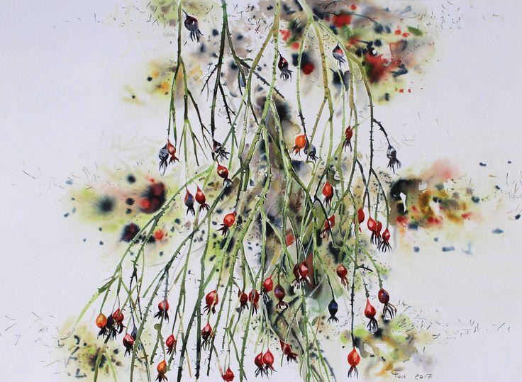 #watercolor#ink#flower#