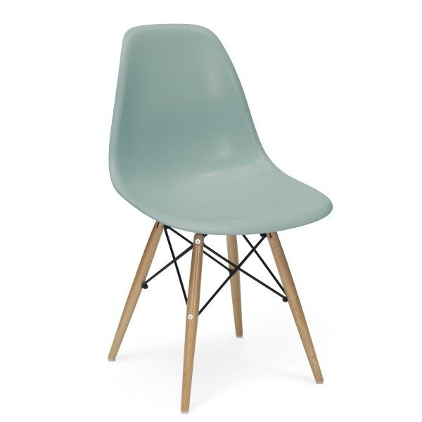 Charles Eames Chairs  DSW - Replica - Set of Two Silver Blue