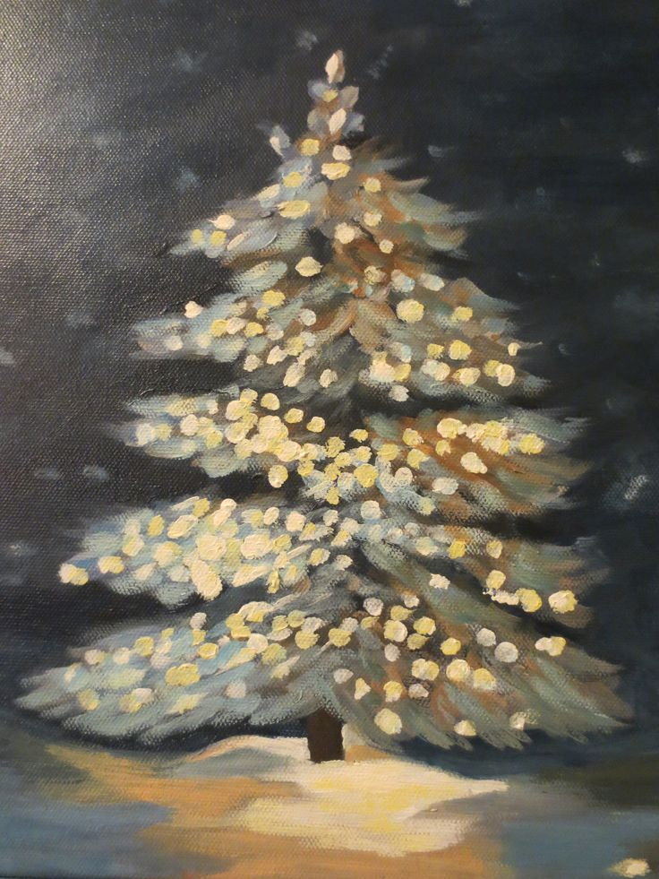 My take on the lighted Christmas tree.  Great practice in light.