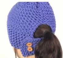 Learn To Loom Knit A Ponytail Hat                                                                                                                                                                                 More