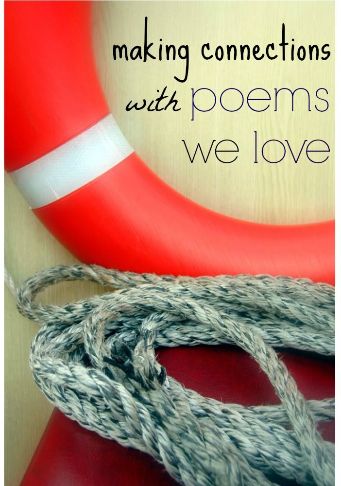 make connections with poems we love   comprehension stragegies