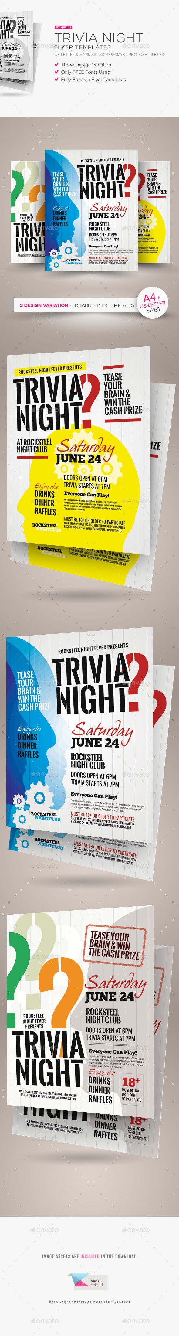 best images about flyer templates roofing trivia night flyer templates