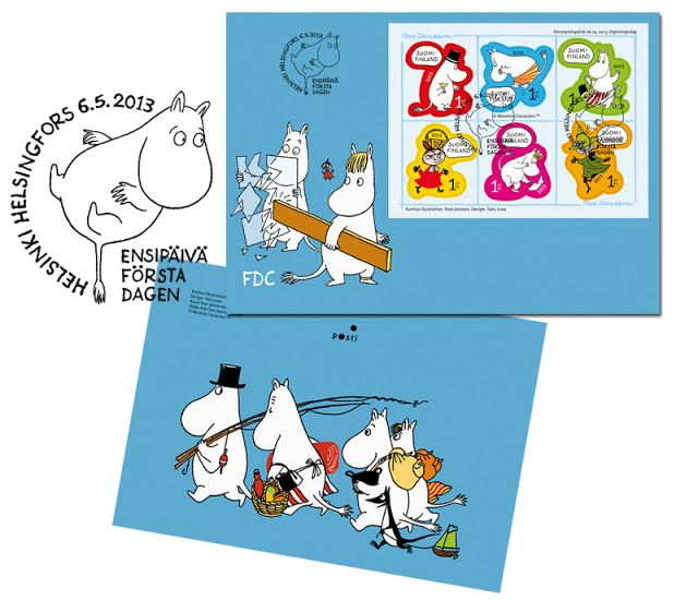 Moomin stamps - featured in upcoming book Nordicana: 100 Icons of Scandi Cultures & Nordic Cool