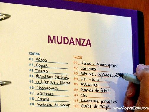 lista de contenido de cajas de una mudanza - www.AorganiZarte.com