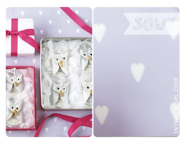 Salt dough owls ornaments
