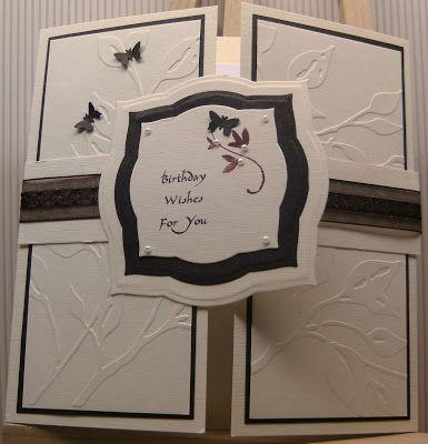 MISSY G DESIGNS: Card Making Class - Week5 - Joyfold and Gatefold cards
