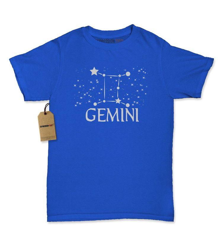 Gemini Zodiac Star Chart Womens T-shirt