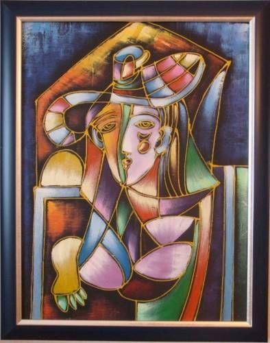 Картины (живопись) : Портрет женщины в шляпе.