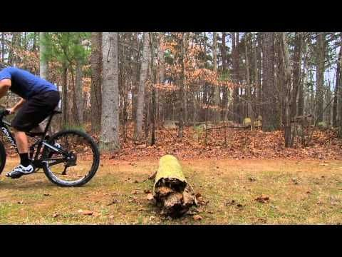 "Here are some basic tips on how to go over a log while riding single track. Mark, from Performance Bicycle, demonstrates several different methods to get you and your bike over trail obstacles, from just rolling over to a more advanced ""bunny hop"".     Shop Performance Bicycle at http://www.performancebike.com/  Follow Performance Bicycle on Twitte..."