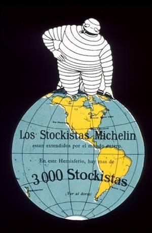 GLOBE~VintageArte♥ - Michelin Bibendum Global Stock : Posters and Framed Art Prints Available