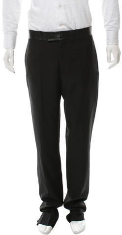 Dior Homme Wool Leather-Trimmed Pants w/ Tags