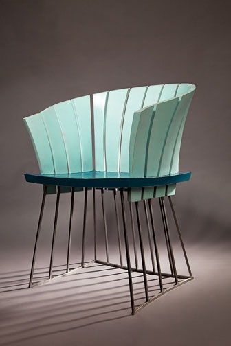 Nautilus chair in steel and painted poplar by David Rasmussen Design