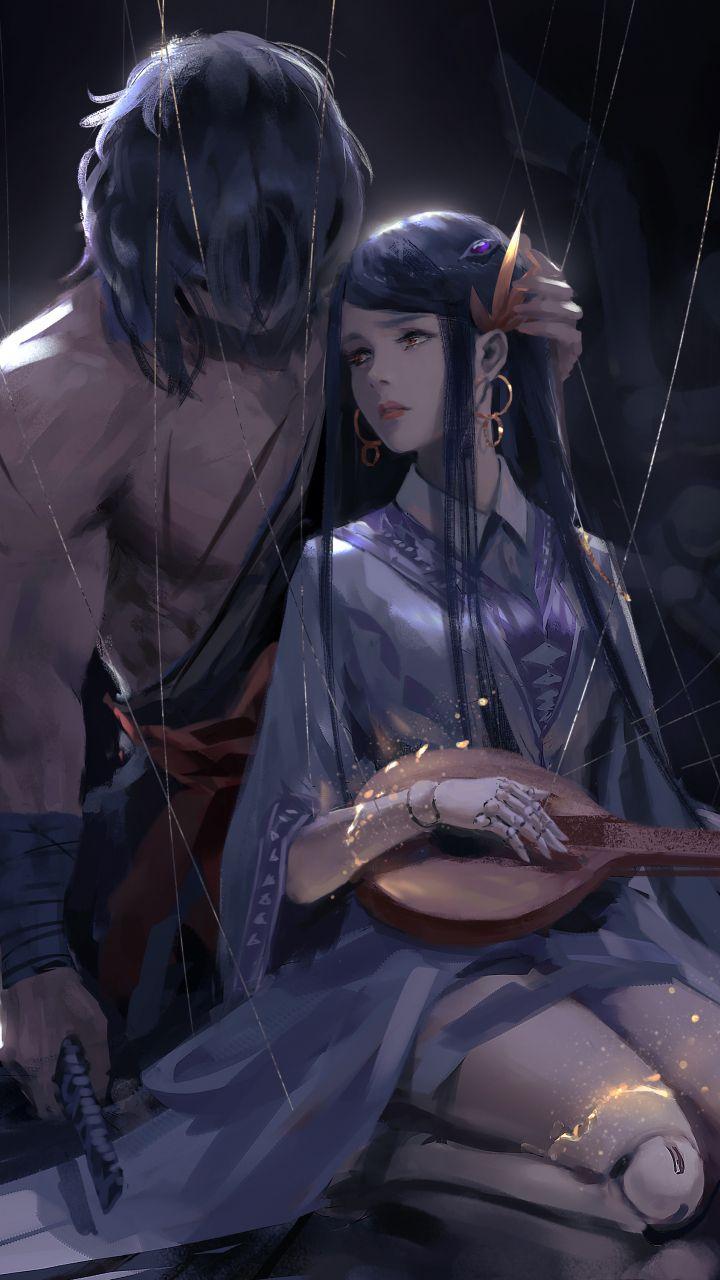Woman And Warrior Artwork Fantasy Anime 720x1280 Wallpaper Anime Art Fantasy Anime Art Anime