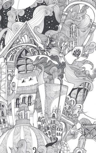 輸入壁紙切り売り:1m単位で販売:Graham&Brown /  New Wave / Lizzies Doodle Black/White / 50-810