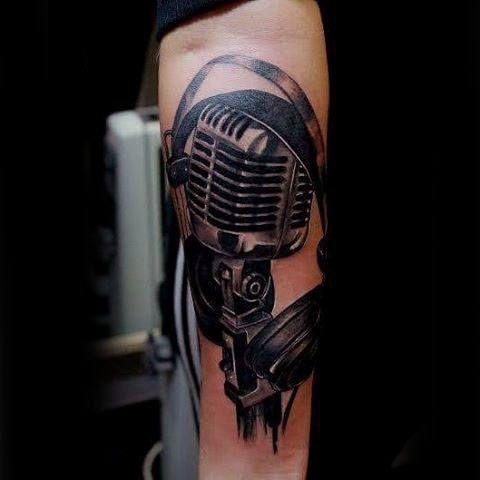 Best 25 Microphone Tattoo Ideas On Pinterest Mic Tattoo