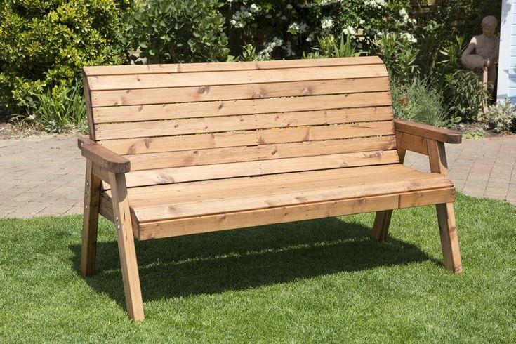Heavy Duty Wooden Garden Bench Seat, UK Handmade, Fully Assembled 2 or 3 Seater #Handmade