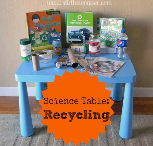 Science Table: Recycling from Stir the Wonder