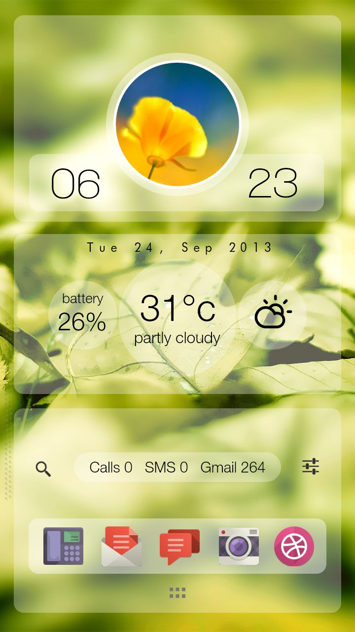 ClearVu Android Homescreen by cardoman - MyColorscreen