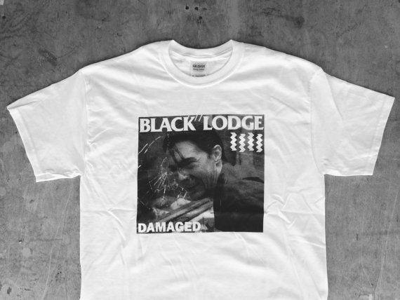 Black Lodge Damaged : TP / Black Flag Tee Shirt by monstersoutside