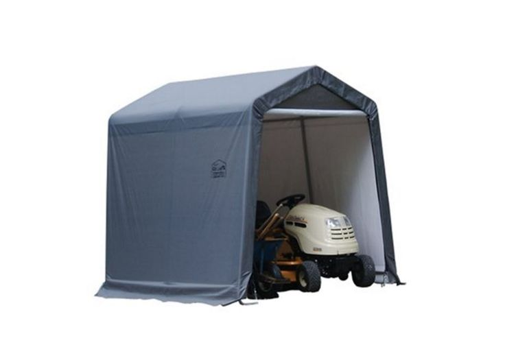Riding Lawn Mower Shed Portable Storage Sheds Shed In A Box With Auger  Anchors
