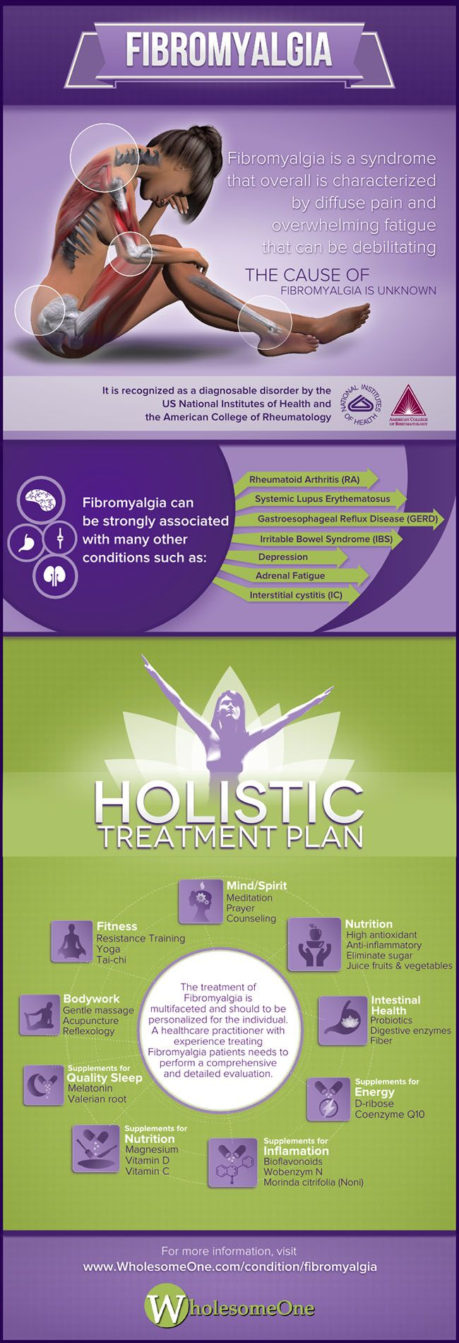 Fibromyalgia #Infographic #Health #Fibromyalgia | Holistic treatment plan