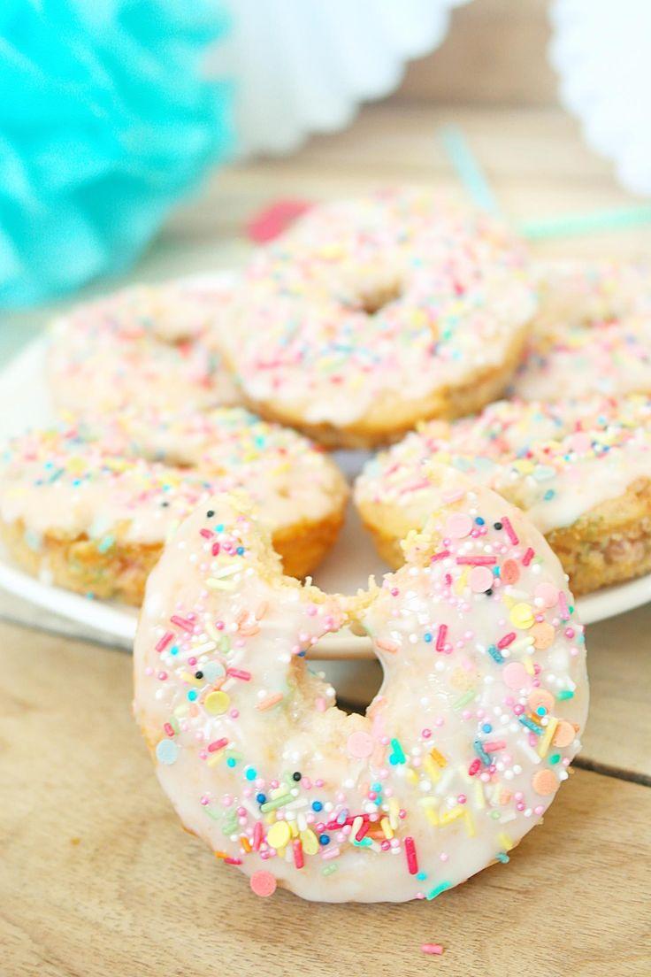Rezept für-Konfetti Donuts aus dem Ofen