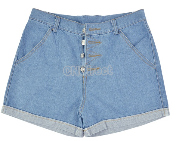 $7.80 Fashion Lady's Solid Light Blue Jean Shorts