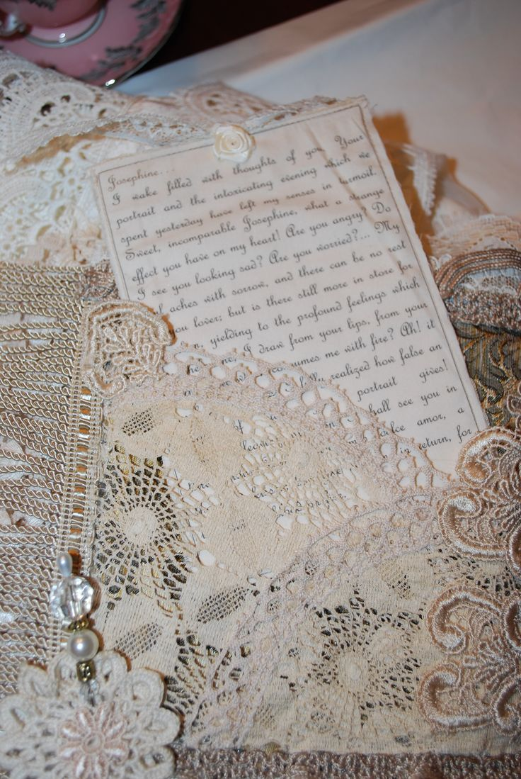 83 best Lace \u0026 Fabric Journals images on Pinterest   Fabric books ...