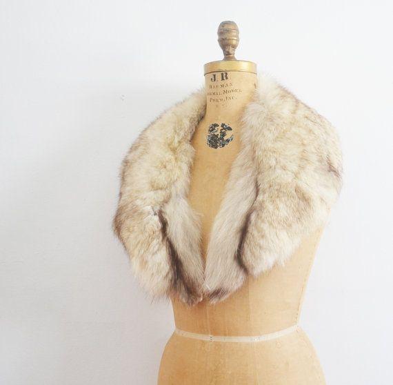Fur collar /  fox fur collar