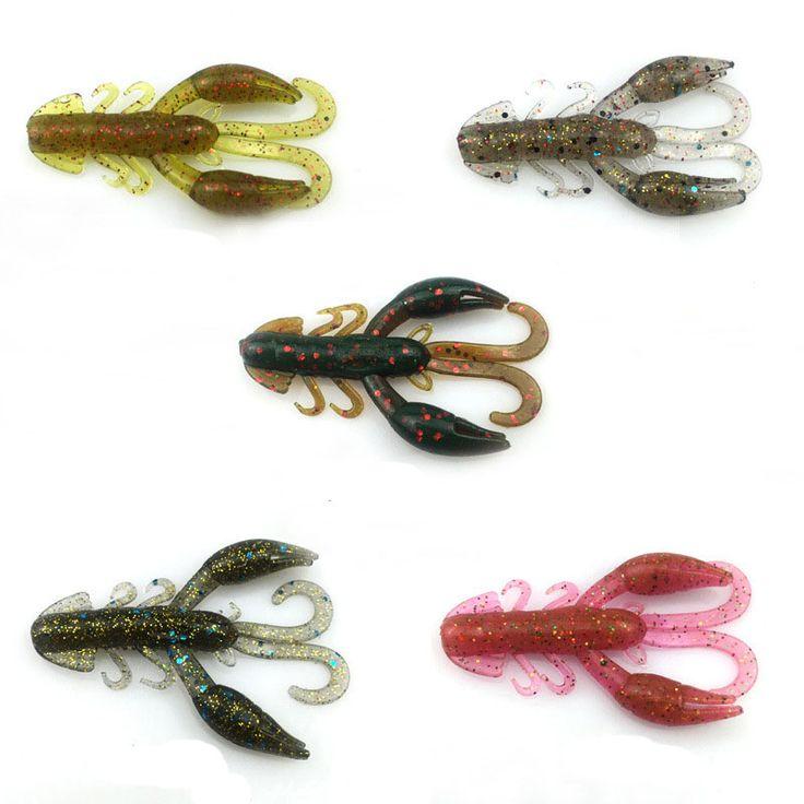 5 unids carpa señuelo suave pesca en el mar pesca jig giratoria kit de silicona cebo de proteína suave gusano de pesca de camarón señuelo de goma YE-142