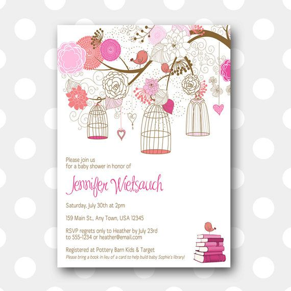 Printable Baby Shower Invitation  Bookworm by inglishdigidesign, $10.00 (bring a book instead of a card - I love it!)