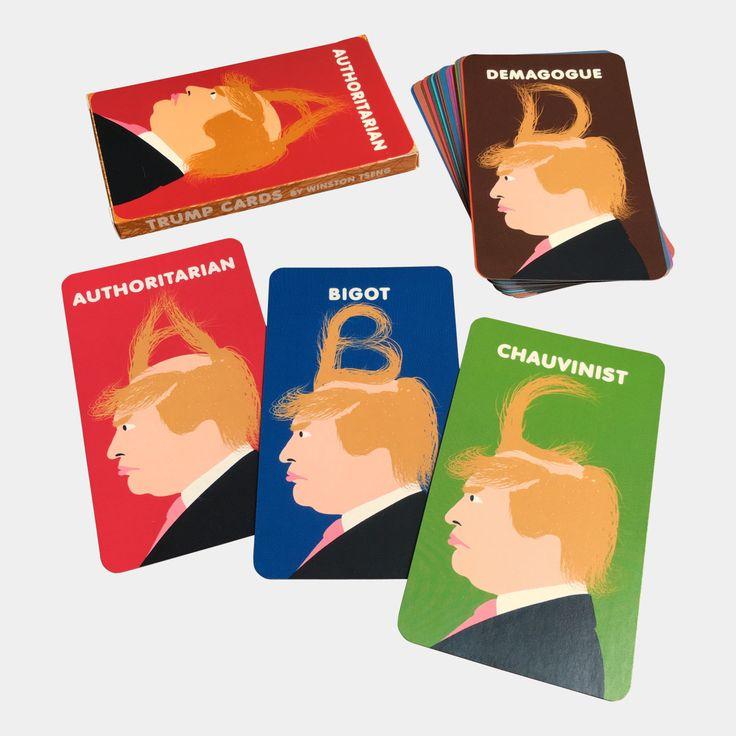 """Trump Cards (2016) 26 alphabet cards, 2.75"""" x 4.75"""", 300gsm $20"""