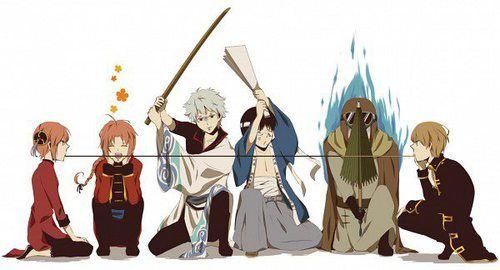 Gintama/ Okikagu/ Kamui/ Gintoki/ Shinpachi/ Umibouzu