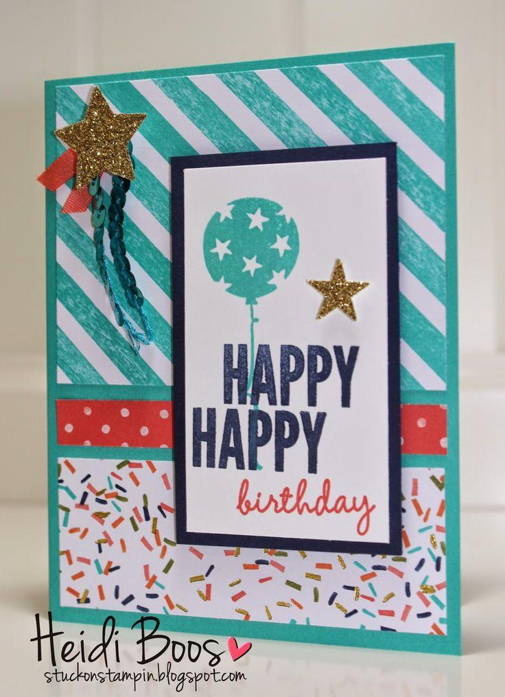 Stuck on Stampin': Happy Happy Birthday Balloon Bash, Stampin Up, Occasions Catalog, Heidi Boos