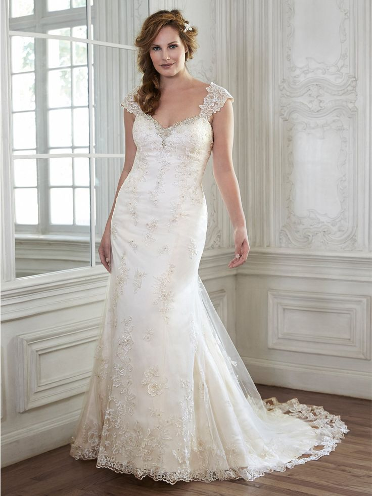 113 best plus size wedding dresses images on pinterest for Maggie sottero mckenzie wedding dress