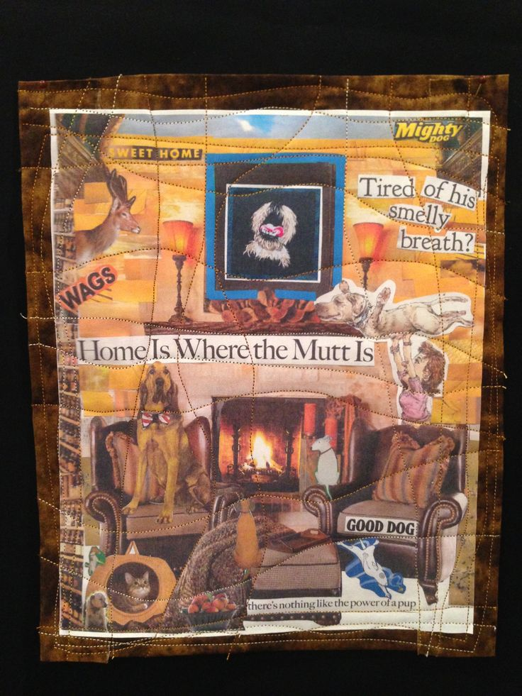 """Home Is Where The Mutt Is"" quilt by Kathy Zieben 2014"