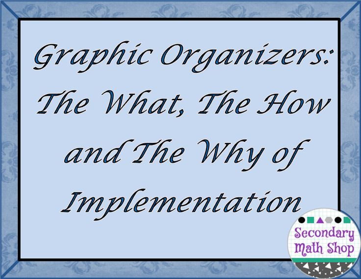 The Spectacular World Of Secondary Math: Graphic Organizers: The What, Why and How of Implementation