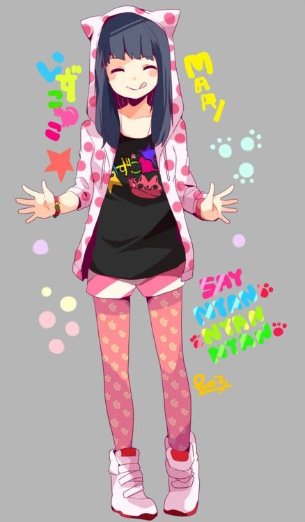 Cute little pink anime girl outfit. | Anime Girls | Pinterest | Girl outfits Anime and Girls