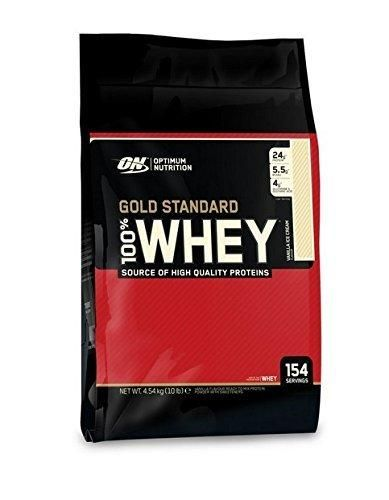 Optimum Nutrition Gold Standard 100% Whey Protein Powder Vanilla Ice Cream 10 Pound