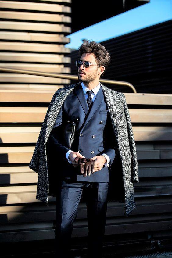 Dapper Double Breasted Suit | Overcoat | Tailored Outfits