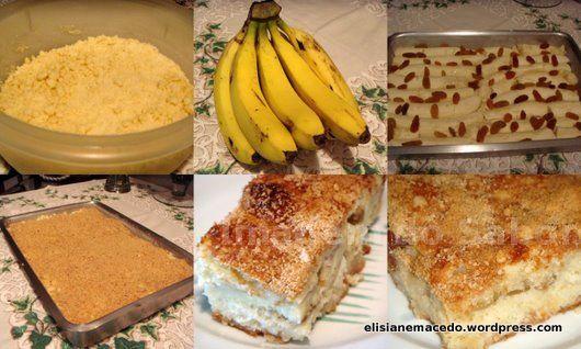 Bolo Farofa de Banana - Passo-a-Passo