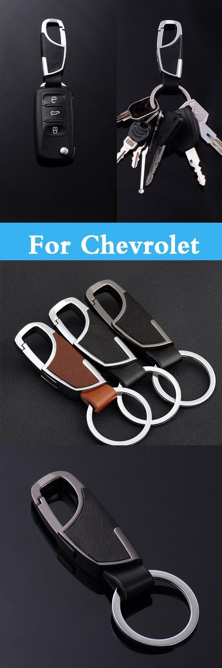 Car key Remote Case Cover Leather Key Chain / Rings For Chevrolet Corvette Cruze Epica Equinox Evanda HHR Impala Kalos Lacetti