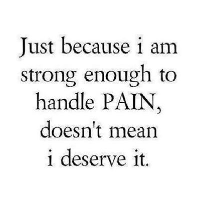 Just because I am strong enough life quotes quotes quote hurt pain strong